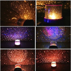 Image 3 - Đèn Led Sao Đêm Chiếu Đèn LED Ban Đêm Trăng Sao Chủ Lãng Mạn Đầy Màu Sắc Đèn Chiếu Trẻ Em Trẻ Em Trang Trí Nhà