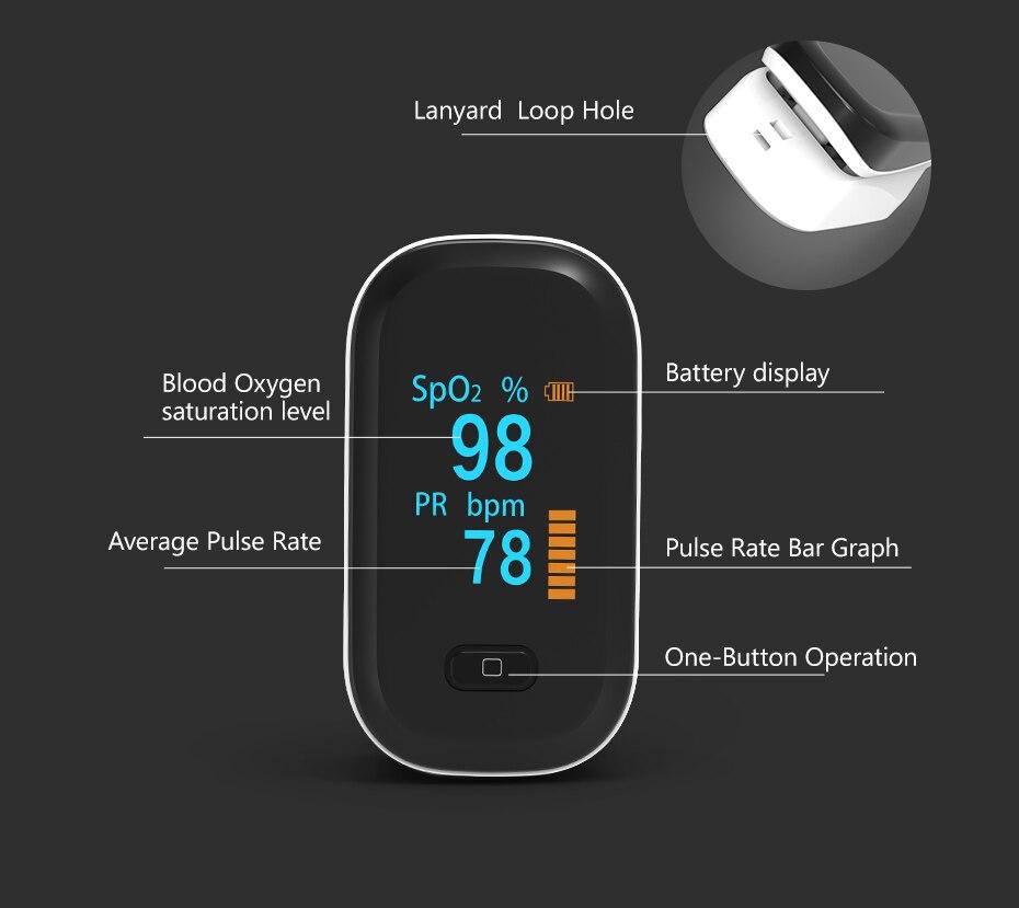 coração de oxímetro pulso portátil dedo medidor