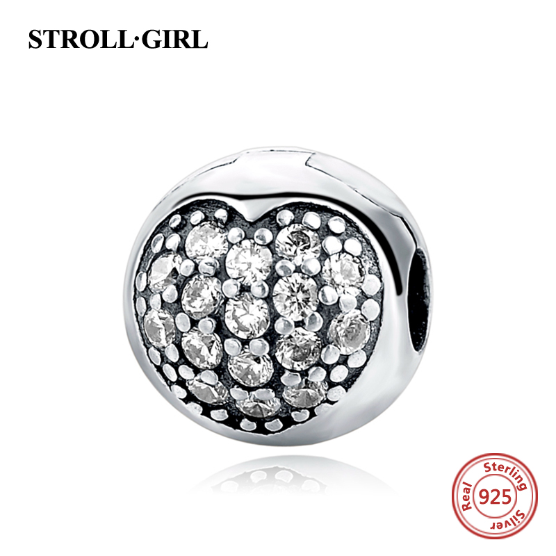 2018 New Arrival Vintage beads Charms clip fits pandora charm original silver 925 Lock beads for jewelry making Love gift supply
