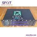 Gepon olt, FTTH 2 PON puerto OLT con PON módulos, doble poder, Popular en la mercado