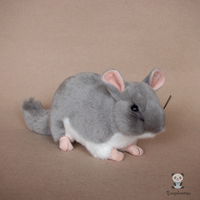 Cute Gray Mouse Doll Stuffed Animals Toys Home Decoration Birthday Gifts Toy Children Soft Totoro Dolls