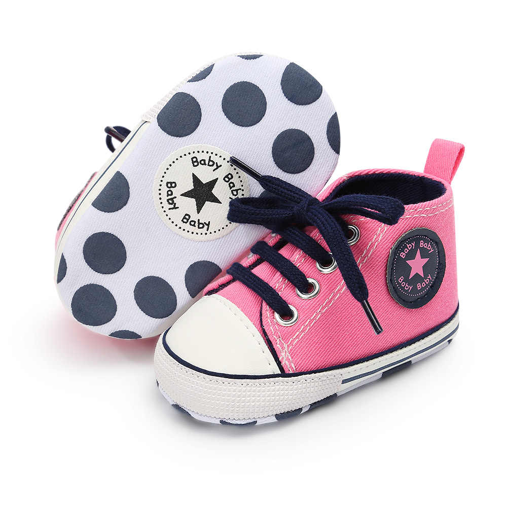 New 13 Multiple colors Classic Canvas Baby Shoes Newborn Sports Sneakers First Walkers Kids Booties Children Moccasins shoes