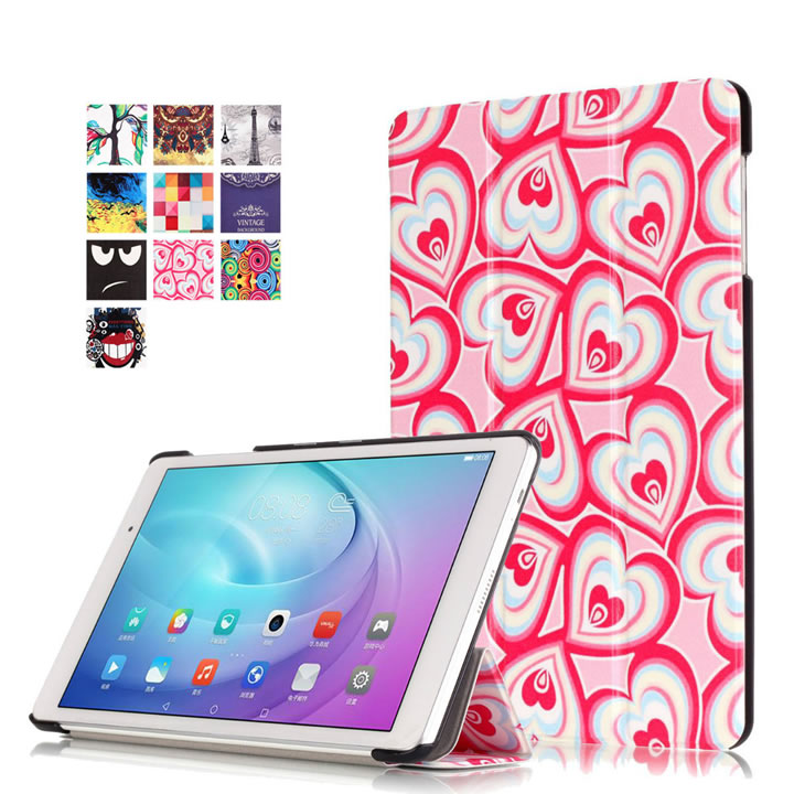 Slim Folio Colorful Painted Pu Leather Case Cover For Huawei Mediapad T2 Pro 10.0 FDR-A01W FDR-A03L Tablet PC + Screen Film