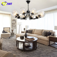 Loft Glass Bubble Pendant Lamp Vintage American Style Creative Glass Balls Bar Clothes Store Led Lamp
