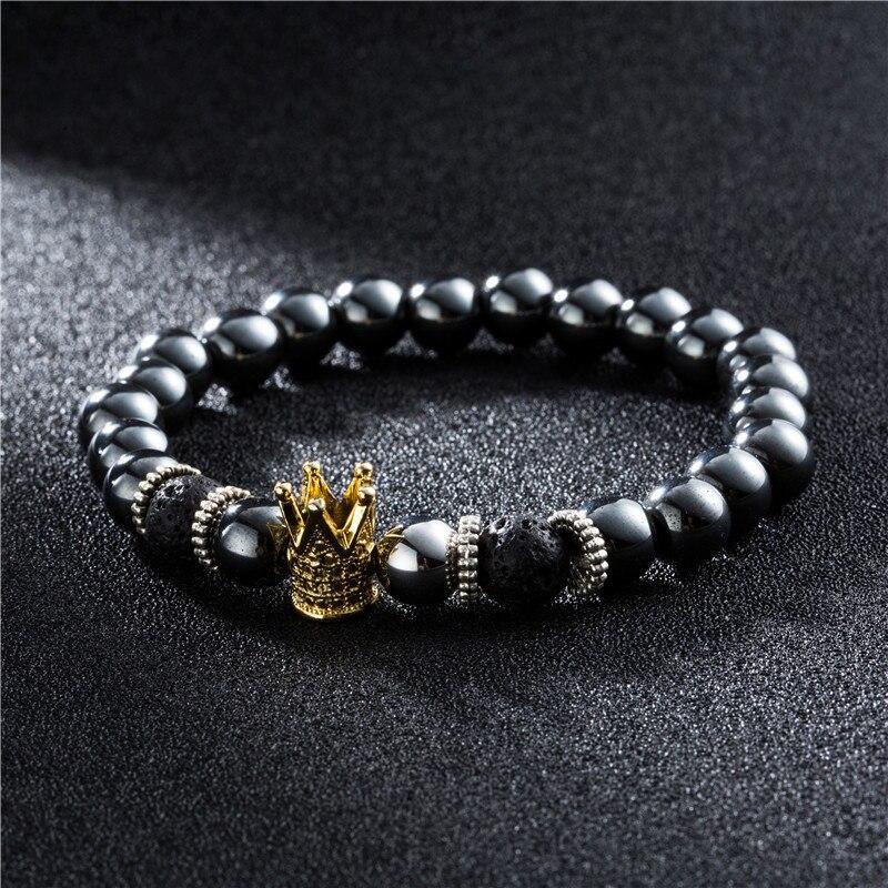 Black Beaded Hematite Bracelet