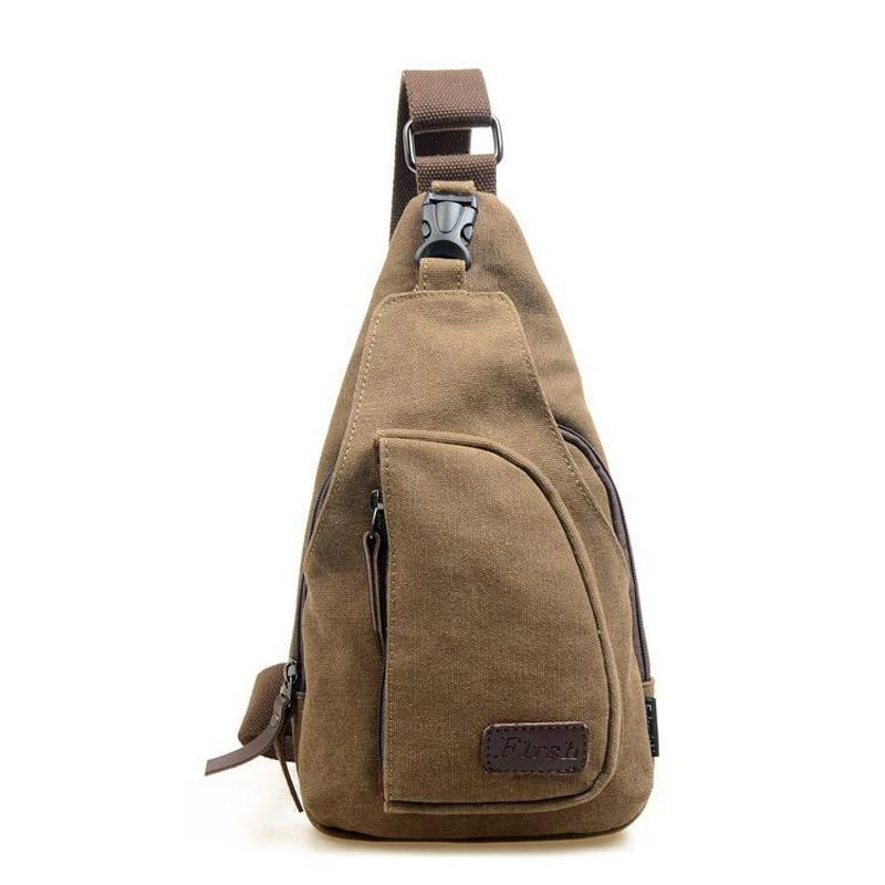 2017 Retro Canvas Men Vintage Chest Bags Fashion High Quality Travel Crossbody Bag Man Messenger Bag Clutch Bolsa  цена и фото