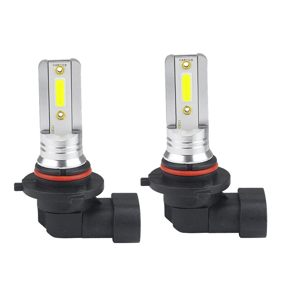 2pcs High Power HB3 9005 Red COB LED Bulbs Car for Fog Driving Light Lamps DC12V