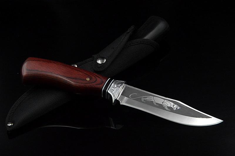 DuoClang väljas kämpinguga fikseeritud teraga nuga 7Cr15Mov - Käsitööriistad - Foto 5