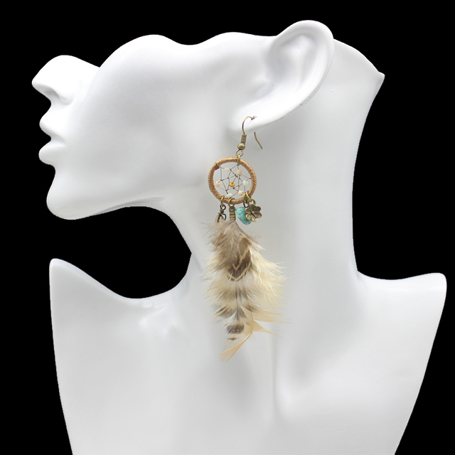 Dreamcatcher Feather Earrings