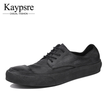 Kaypsre 2017 spring/autumn Vintage genuine leather casual shoes men's fashion breathable