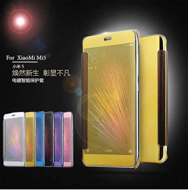 brand new 87916 4ac30 US $6.99 |For Xiaomi Mi5 Mi 5S Case Luxury Original Mirror View Window  Smart Flip Cover For XiaoMi Mi5 Mi5S Mi 5S Mobile Phone Bag Coque-in Flip  Cases ...