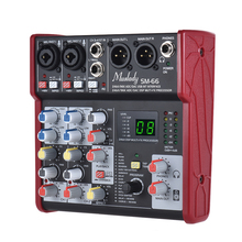 Mixing-Console-Mixer Interface Audio Sound-Card 16-Effects 4-Channel with USB Supports