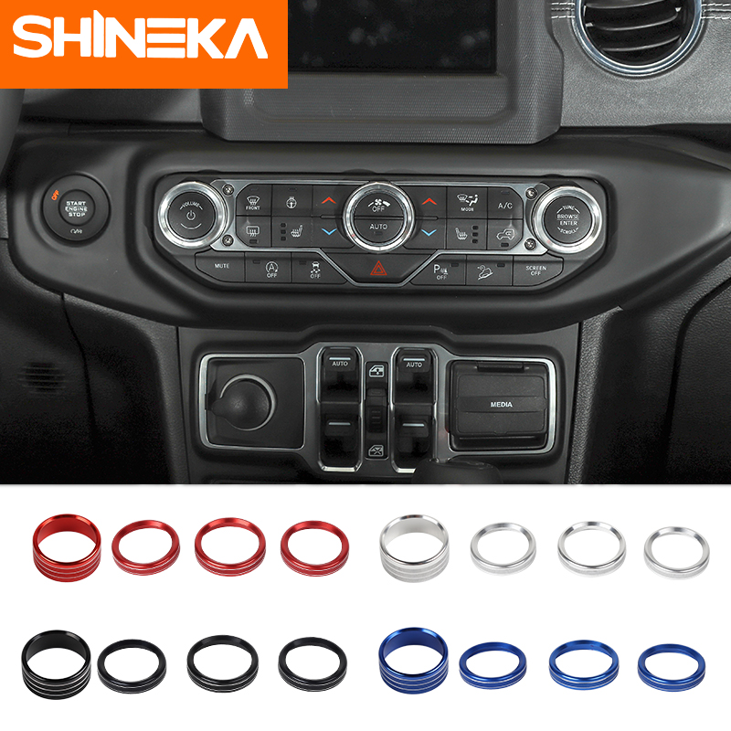 SHINEKA Car Headlight Air Conditioning Switch Knob Button Decoration Interior Accessories for