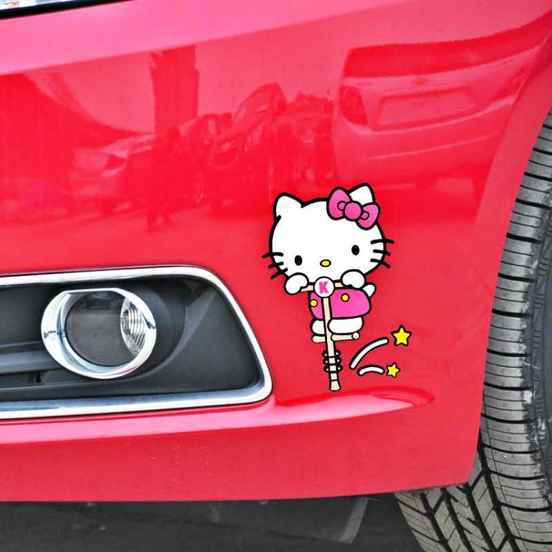 Volkrays автомобильные аксессуары мультфильм hello kitty спортивная наклейка декоративные наклейки для мотоцикла тележка чехол холодильник фокус Nissan Bmw