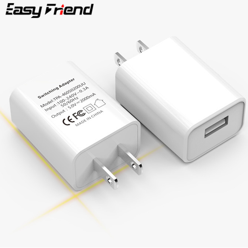 5V 2.1A USB Charger EU US CN Adapter for Samsung iPhone Xiaomi Huawei M