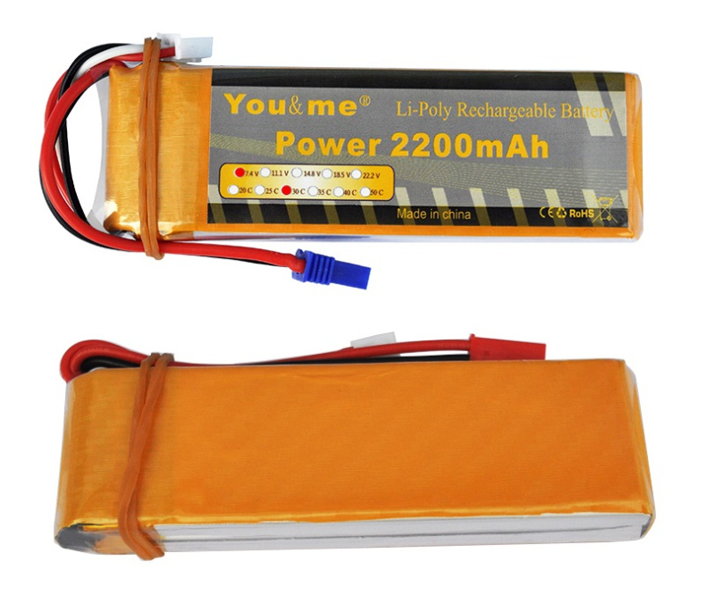 Hot sell rc drone battery 8C and 30C 7.4V 2200mah battery for Hubsan H501S rc drone RC Quadcopter spare parts battery