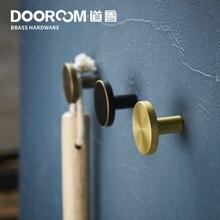 Dooroom латунные крючки с подшипниками для ванной комнаты, кухни, прихожей, настенные крючки для одежды, настенные вешалки, ряд крючков, скандинавские, свежие, американские