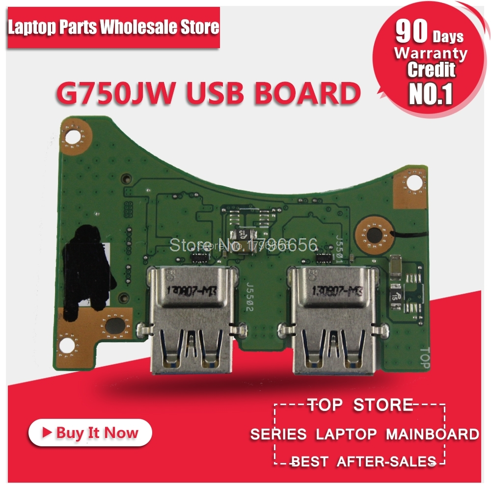 Купить с кэшбэком Send usb board + 2D with i7-4700HQ GTX770M For ASUS G750J G750JX G750JH G750JW Laptop motherboard Test work 100%