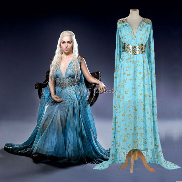 acheter game of thrones cosplay daenerys targaryen m re des dragons belle dress. Black Bedroom Furniture Sets. Home Design Ideas