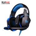 EACH G2000 Наушники Gaming Headset PC Gamer Бас Headfone Mp3-плеер Микрофон Tablet Шумоподавлением Наушники PS4 Гарнитура