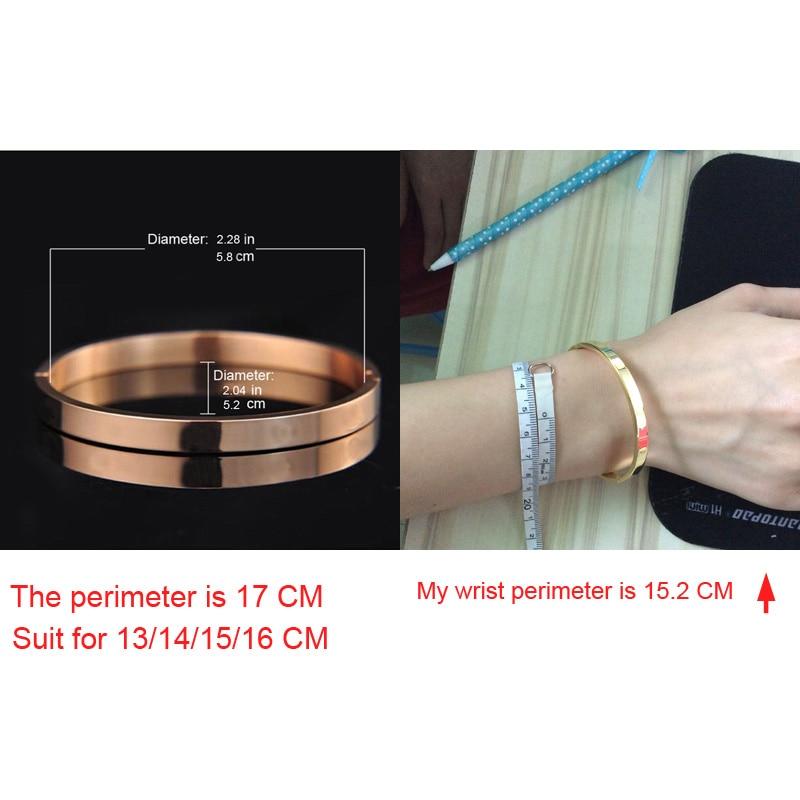 De lujo de acero inoxidable brazalete brazaletes y brazaletes Top - Bisutería - foto 5