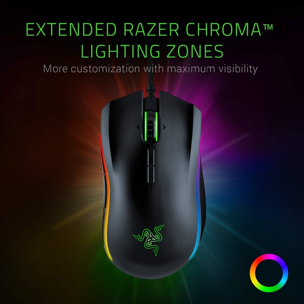 Image 2 - NEW Razer Mamba Elite Wired Gaming Mouse 16000 DPI 5G Optical Sensor Chroma Light Ergonomic Gaming Mouse For PC Gamer Laptop-in Mice from Computer & Office