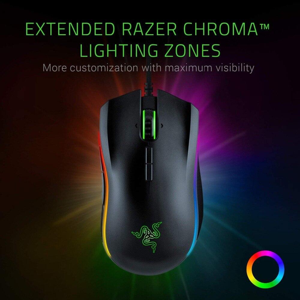 Nouveau Razer Mamba Elite souris de jeu filaire 16000 DPI 5G capteur optique Chroma lumière souris de jeu ergonomique pour PC Gamer ordinateur portable - 2