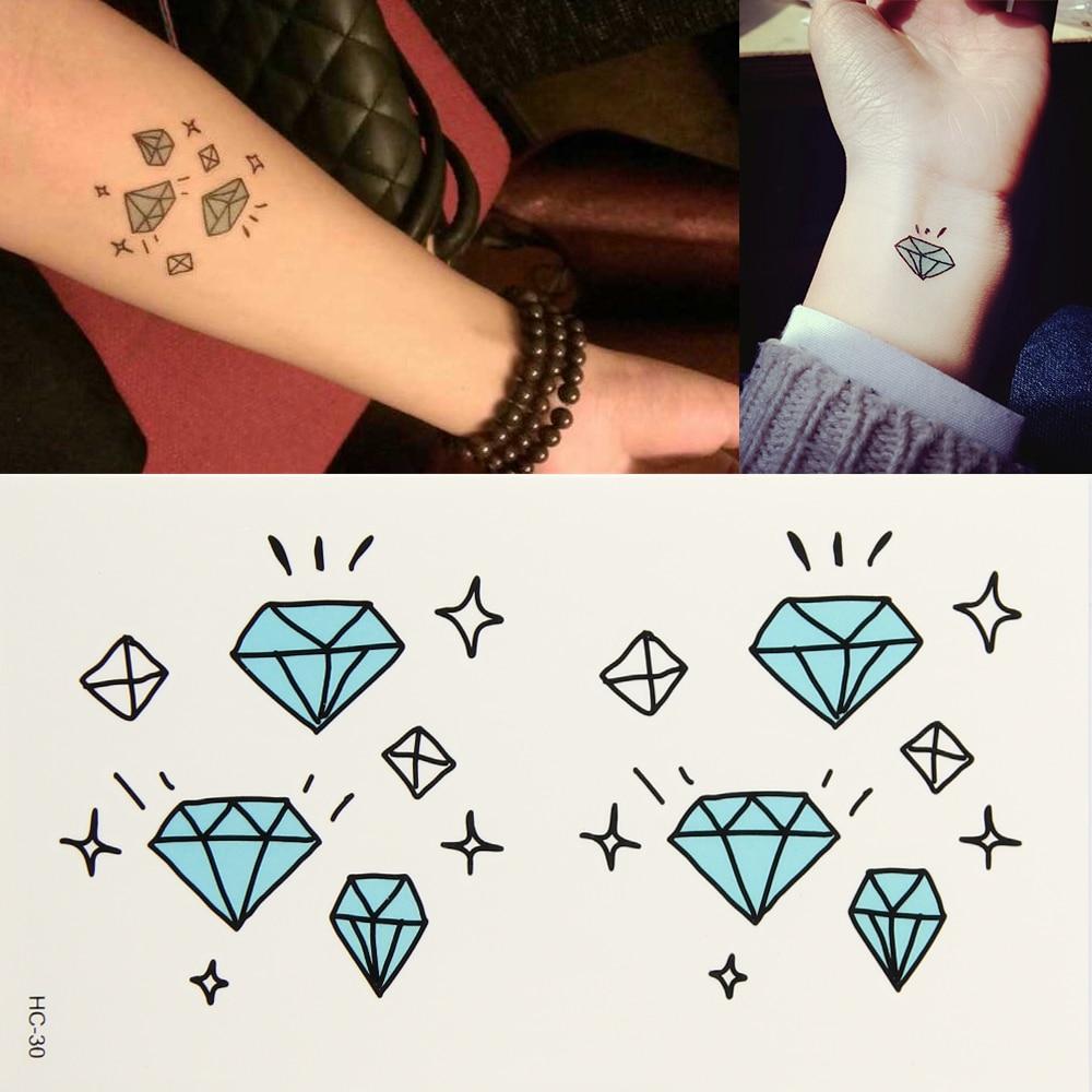 10x Diamante Estrellas Impermeable Cuerpo Arte Manga Tatuaje Diy