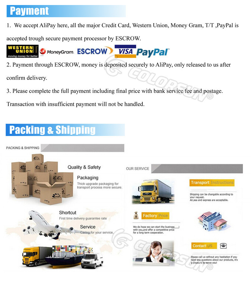 payment,packing & shipping