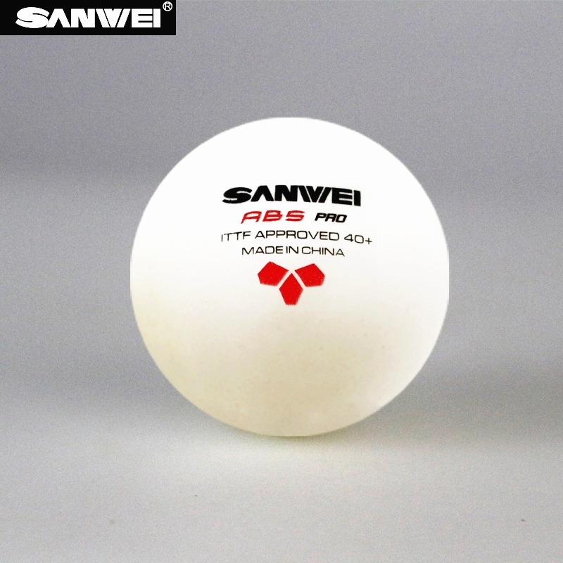 SANWEI Table Tennis Ball 3 star ABS 40 PRO seamed New material plastic poly ITTF Approved ping pong balls tenis de mesa in Table Tennis Balls from Sports Entertainment