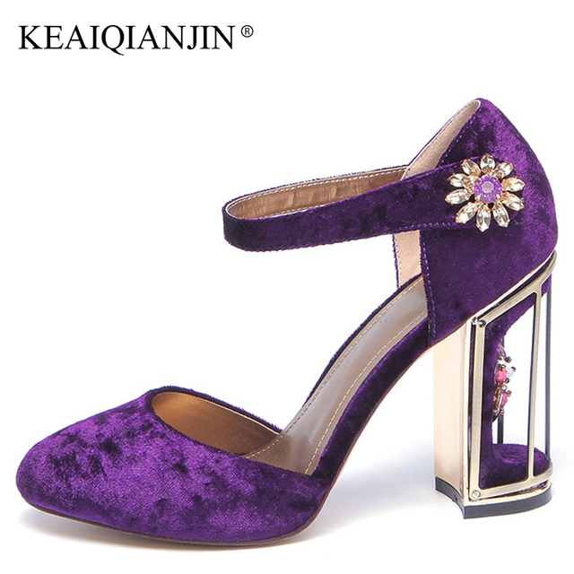 KEAIQIANJIN Woman Crystal Sandals Fashion Sexy Red Wedding High Heels Shoes  Plus Size 34 - 43 295eb5510e7b