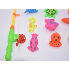 14pcs Set Magnetic Fishing Toy Game Kids 1 Rod 1 net 12 3D Fish Baby Bath Toys Outdoor Fun