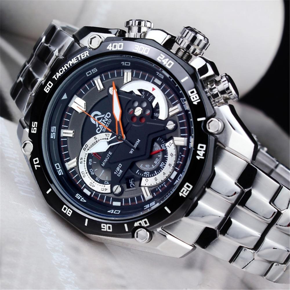 CAINO Luxury Brand Fashion Watches Men Casual Charm Luminous Sport Multi Function Quartz Wirst Watch Waterproof