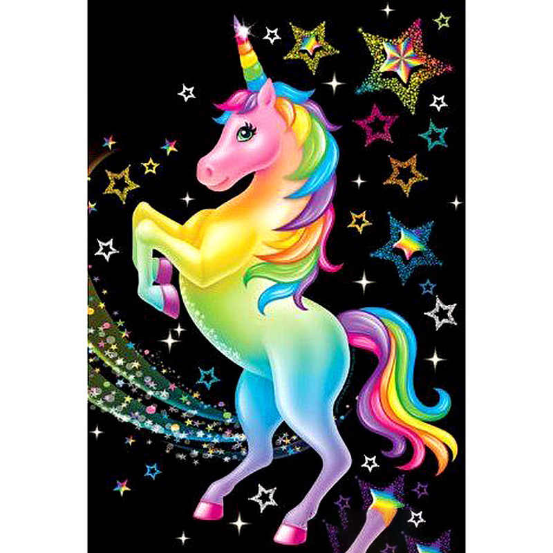 5D DIY Diamond Painting animal Unicorn diamond embroidery Full drilling round drill Cross stitch Home Decoration