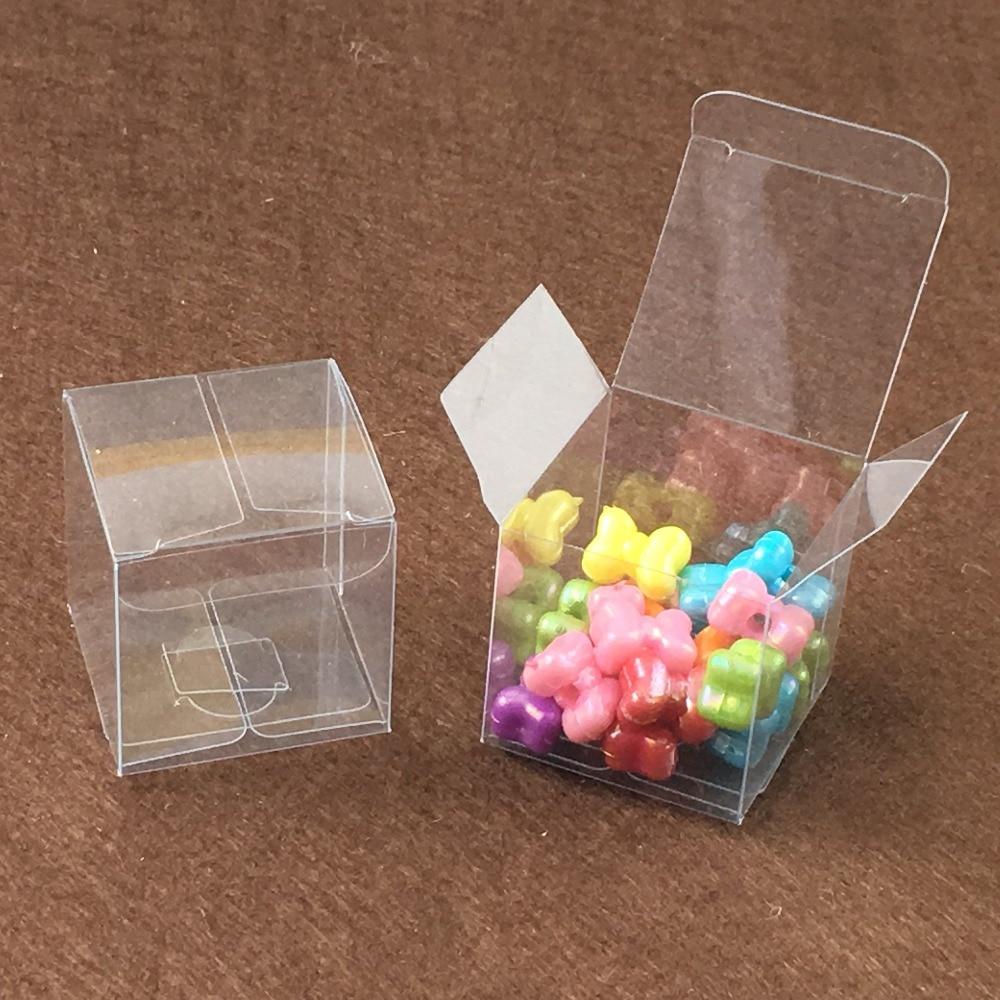 buy 50pcs 5 5 5cm clear plastic pvc boxes. Black Bedroom Furniture Sets. Home Design Ideas