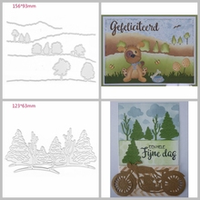 Hills Trees Forest Shape Metal Cutting Dies Stencil Scrapbook Album Embossing For Gift Card Making Handcrafts Decor