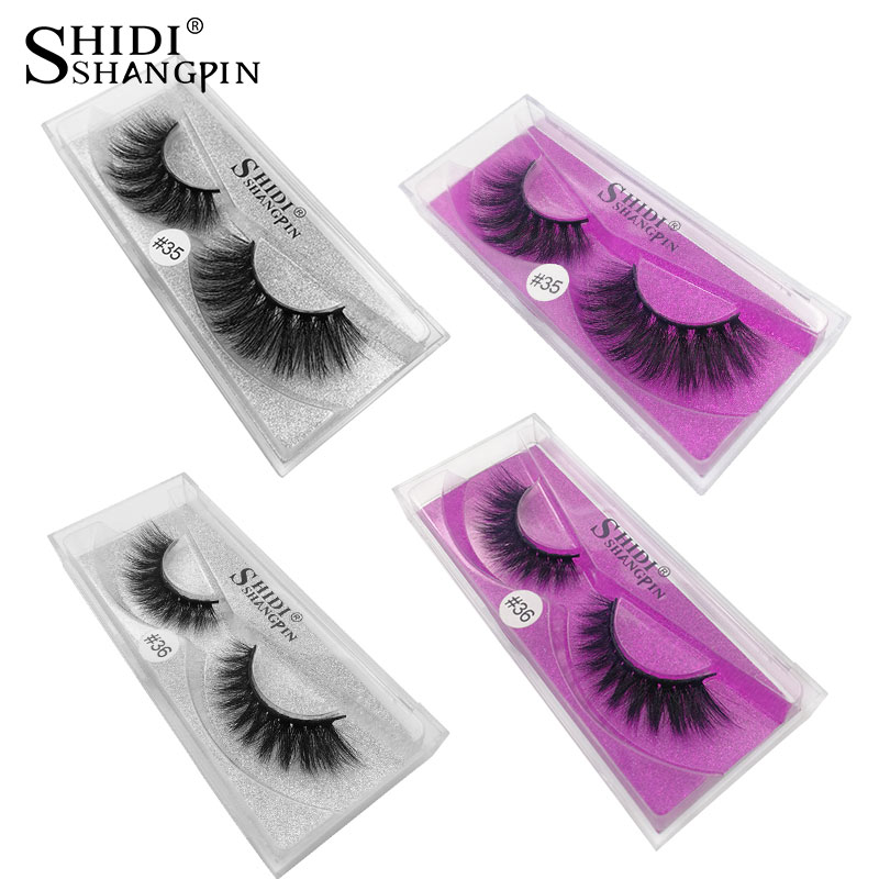 SHIDISHANGPIN 1 Pair Eyelashes Natural Long False Mink Eyelashes 1cm-1.5cm 3d Mink Lashes 1 Box False Lashes Maquiagem Cilios