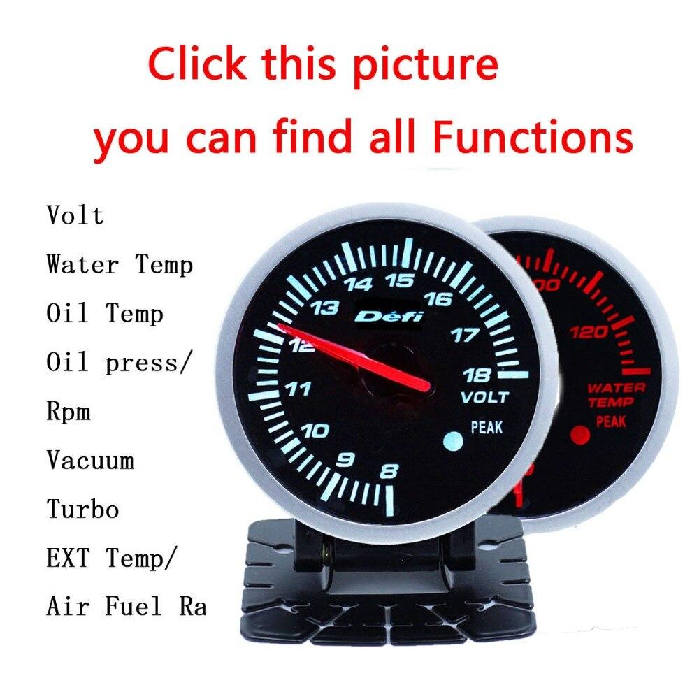 Defi BF 2 5inch 60mm auto meter Gauge Volt water temp oil temp oil press