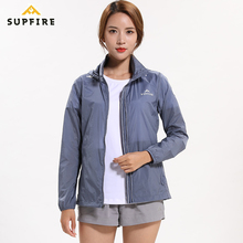 Women Cycling Jackets Supfire Running Sports Sunscreen Skin Wind Coat Long Sleeve Jerseys Night Vision Windproof C017