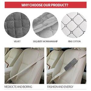 Image 5 - Cinto de segurança do carro ombros almofadas cobre bens almofada quente curto pelúcia proteção ombro acessórios interiores automóvel 4 temporada