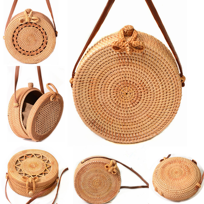 2018 Round Straw Bags Women Summer Rattan Bag