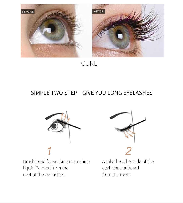 83eccb6fde0 ... Qibest Powerful Eyelash Growth Treatment Liquid Serum Enhancer Eye Lash  Longer Thicker Extension Eyelash TSLM2 ...