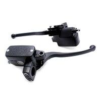 Black Right 7 8 22mm Motorcycle Front Brake Clutch Master Cylinder For Honda CB400 1992