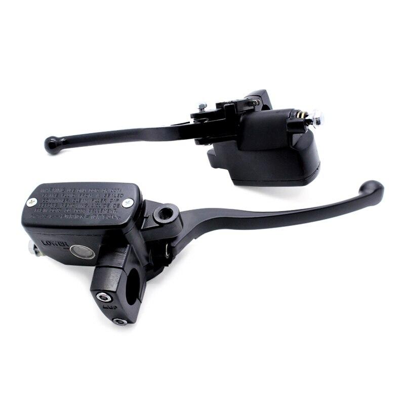 Noir 7/8 22mm Avant Moto Universelle De Frein D'embrayage Maître-Cylindre Réservoir leviers Pour Yamaha Suzuki Honda CB400