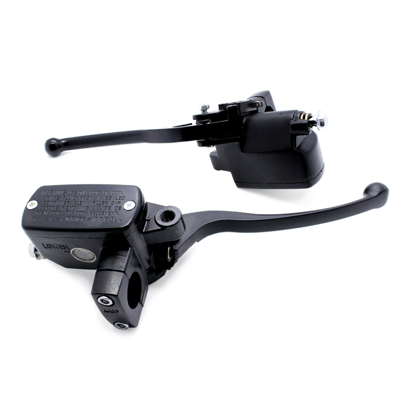 Noir 7/8 22mm universel avant moto frein embrayage maître-cylindre réservoir leviers pour Yamaha Suzuki Honda CB400