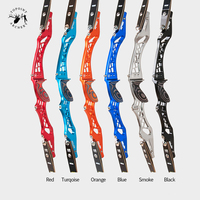 New 25 Inches Recurve Bow Riser Aluminum alloy 6061 T6 Same Color Wooden Handle RH an LH for Outdoor Archery Shooting