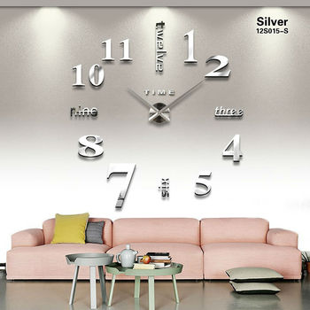 quartz new home decoration acrylic mirror large wall clock 3D DIY  big size sticker modern design unique fashion gift - discount item  63% OFF Home Decor