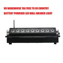 4X LOT UK STOCK LED Wall Washer Light 9*15W 5in1 RGBAW UV Battery Powered LED Wall Light DMX Stage Light No Tax SHIP FROM EU