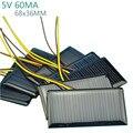 10 Шт. Солнечные батареи Солнечные Батареи Питания Solars Зарядки Солнечной DIY Аккумуляторы 5 В 60MA 68x36 MM