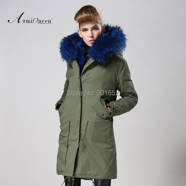 Women raccoon Winter Warm Parka high quality Faux Fur parka Hooded Coat Overcoat Tops Women's Fur Jacket 3